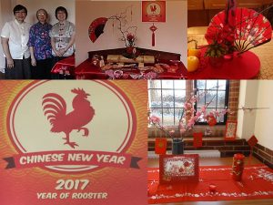 Chinese New Year décor in Ladywell