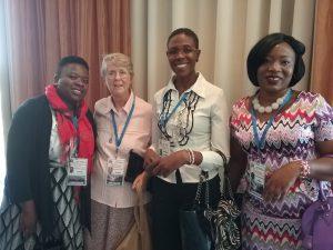 Representatives from Jane Muma, Sr Kay O'Neil, Esther Mwilenge and Musonda Kabembwa.