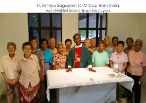 FMDM gathering in Ipoh with Fr. Nithiya OFM Cap on 21 July 2016