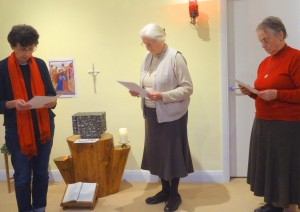 Fiona Amitage makes her First Commitment as an FMDM Associate in the presence of Sisters Shirley Mills and Hazel Buckley