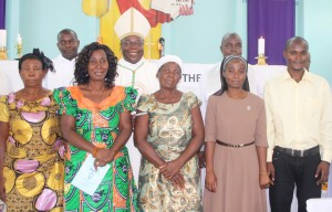Sr. Gracious Champo with family, Bishop, priests