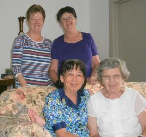 Monica Weedon & Pat Murnane (back, L - R) Marina Chai & Sue Fairbairn (front, L - R)