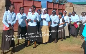 FMDM Sisters dancing and singing on this joyful occasion in Mpika
