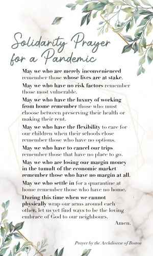 Solidarity Prayer for a Pandemic